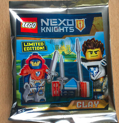 Lego Figurine Polybag Limited Minifigure Nexo Knights Clay Le Chevalier Gris
