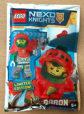Lego Figurine Polybag Limited Minifigure Nexo Knights Aaron Le Chevalier Rouge