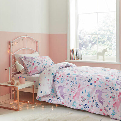 Bianca Kids Woodland Unicorn And Stars 100% Cotton Duvet Cover Set