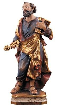 Statue St.Martin Pietro cm 15 Carved Wooden of Valgardena Decoration by Hand