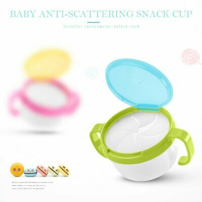 Portable Baby Snacks Cup Baby Toddler No Spill Snack Snacker Bowl Container QW