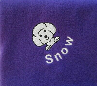 Bichon Frise Fleece Blanket,  Personalised with Name