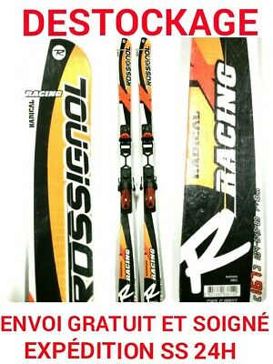 "ski occasion adulte ROSSIGNOL""racing radical""tailles:167cm+fixations"