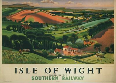 Vintage Southern Railway Flights to Isle of Wight Poster A3//A2//A1 Print