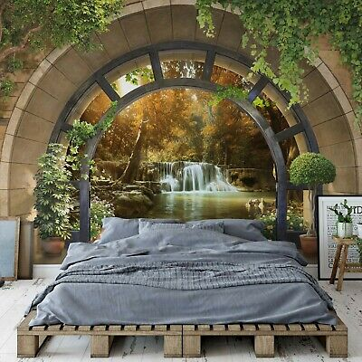 Forest Waterfall Archway View Photo Wallpaper Wall Mural EasyInstall Paper 11553