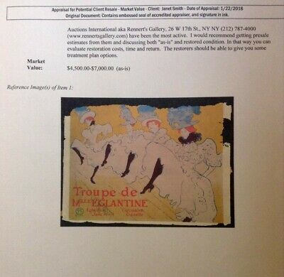 Toulouse Lautrec Poster French can can 24inx36in