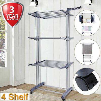 Folding Clothes Airer 6 Tiers Dryer Rack Indoor/Outdoor Laundry Washing Garment