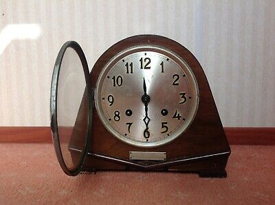 Art Deco Mantle Clock  (For Spares Or Repair) Sold As Seen
