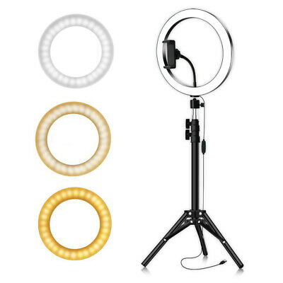 """10"""" LED Ring Light with Stand Dimmable LED Lighting Kit For Makeup UK O9F3Q"""