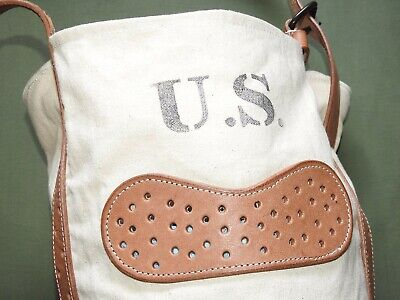 US Army Indian Wars CAVALRY M-1885 FEED BAG WPG Canvas & Leather Pack Carrier