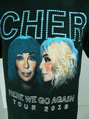 CHER 2019 HERE WE GO AGAIN Concert Tour T-Shirt 2 Sided Sm