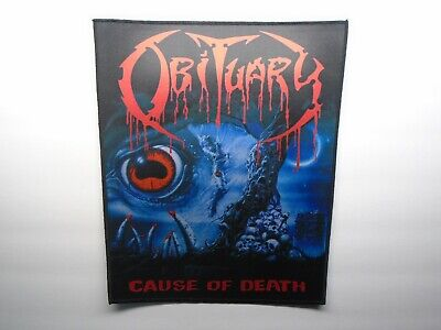 Obituary Cause Of Death Sublimated Back Patch