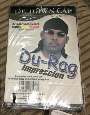 Men's Durag Du-rag Bandana Sports Du Rag Scarf Head wrap. Pack of 12