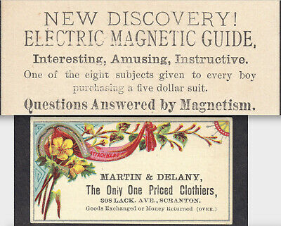 Electric Magnetic Guide 1800's Magnetism Discovery Scranton Victorian Trade Card
