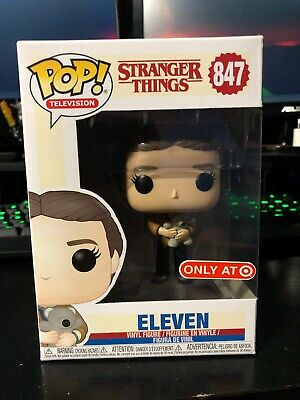 Funko Pop! Stranger Things #847 Eleven with Teddy Bear Target Exclusive In Hand