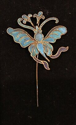 Qing Dynasty Kingfisher feather Hair Pin Antique 19th Century China