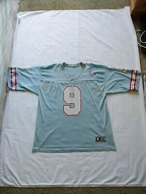 Football-NFL Steve McNair 1997 Tennessee Oilers authentic Starter blue double stitched jersey