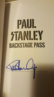 Paul Stanley Kiss Signed  Backstage Pass Book Kiss Hc Dj 1St Edition Farwell
