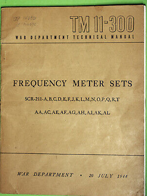 Every Heterodyne Frequency meter sets technical manual TM11-300for 26 sets in GC