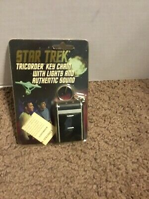 1995 Star Trek TOS Tricorder Key Chain with Lights and Authentic Sound New