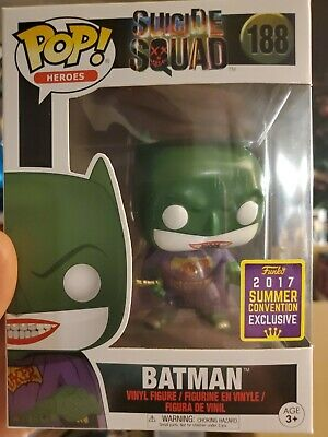 Funko Pop! Heroes: Suicide Squad - Batman Joker #188 SDCC Summer Convention 2017