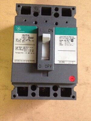 GE TED TED134050WL 50 amp 3 pole 480v Circuit Breaker Green Label Flawed