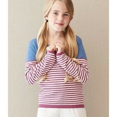 MATILDA JANE Secret Fields Sweet Pea Purple Blue Striped Sweater Size 6