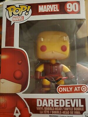 Funko Pop Marvel Comics DareDevil # 90 Bobble-Head Target Exclusive Yellow Suit