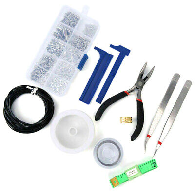 Jewellery Making Starter Kit Pliers Tools Findings Box Beads Wire Starter Metal