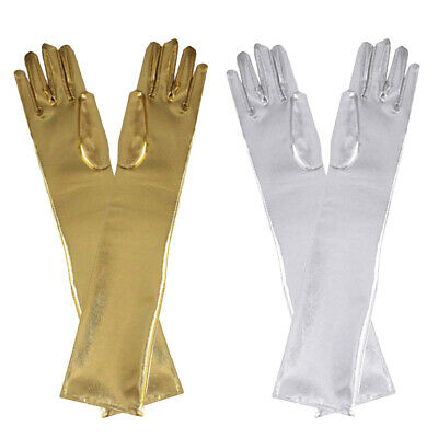 Womens Sexy Long Gloves Women`s Elbow Length Polyester Stretchy Gloves 54cm