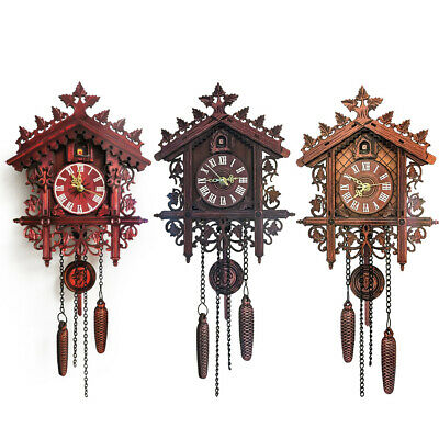 House Clock Wall Decoration Ornament Gift Accessories Handcraft Cuckoo Tree
