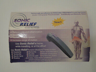 Sonic Relief Portable Pain Therapy Ultrasound Device SR-957 Pain Inflammation