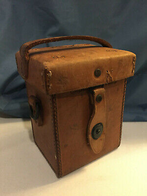 US Army WWII M14 Mortar Sight Brown Leather Carrying Case D29377 WW2