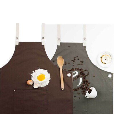 Cross-Back Apron Denim Chefworks Byron Urban Contemporary Barista Brown OR Khaki