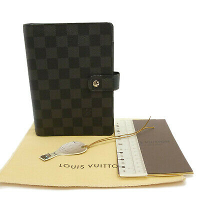 Auth LOUIS VUITTON Agenda MM Day Planner Cover Damier Graphite R20242 #S308099