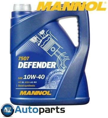 Mannol - Defender 10W40 Car Engine Oil Semi Synthetic MB229.1 501.01/505.00 - 5L