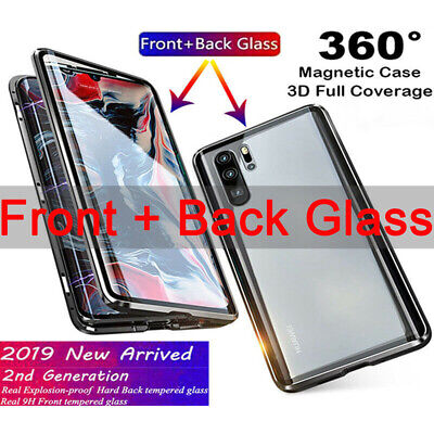 For Huawei Mate P30 Lite Mate 20 Pro Magnetic Full Glass Protector Cover Case*UK