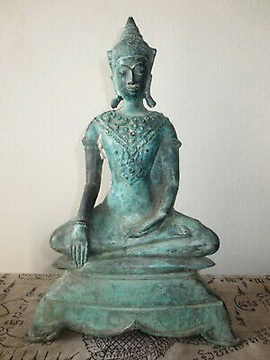 So Rare! Big Ancient Phra Chai-Zong-Kreng Statue Antique Powerful Buddha Amulets