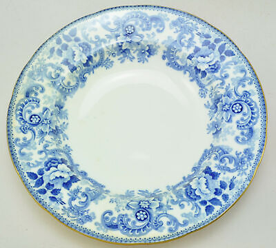 Set of 5 Antique Minton Claremont Blue and White Soup Bowls circa 1900