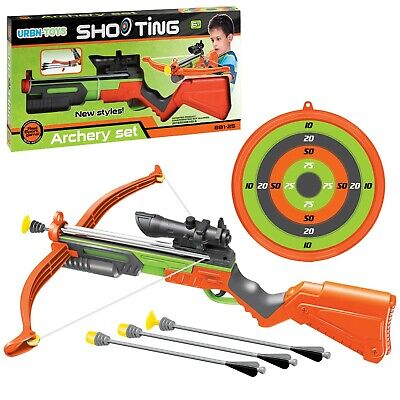 Crossbow Archery Set Dart Board Bow and Arrow Hunting Gun Laser Sight Toy Game