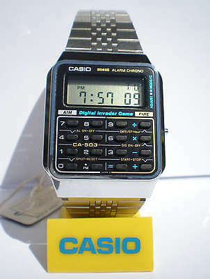 New old stock very rare CASIO CALCULATOR DIGITAL INVADER GAME lcd CA-503 433 NOS