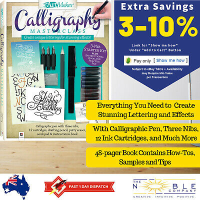 Art Maker Complete Calligraphy Writing Kit Pen Nibs Inks Set Master Course Class