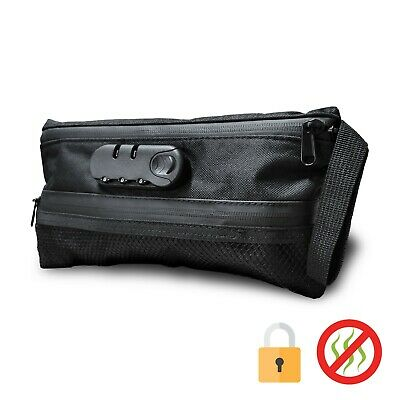 Veeape Smell Proof Bag Pouch Rolling Case Smoker Stash Weed Hand bag Safety Lock