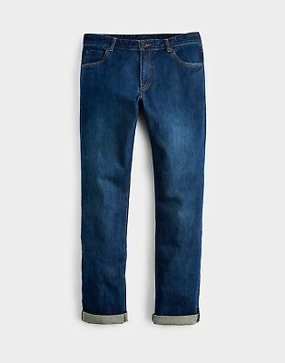 Joules Mens 5 Pocket Jeans in Washed Denim - Size 30""