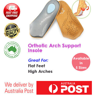 Orthotic Arch Support Insole Shoe Insert Flat Feet High Arches Heel Pain Hard