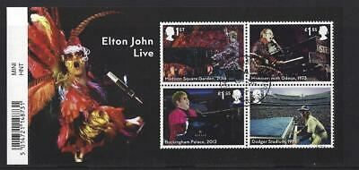 Great Britain 2019 Elton John Miniature Sheet With Barcode Fine Used