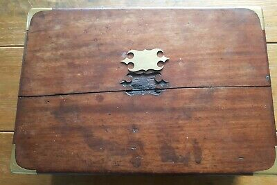 Rosewood/Brass  Writing Slope Fitted Interior secret compartiment need restaure