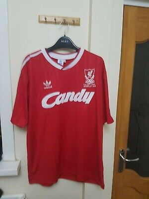 Liverpool Candy Shirt 1988/1989 Size Extra Large