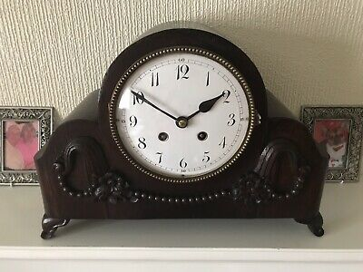 Stunning Oak Cased Lenzkirch Time And Strike Clock
