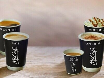 60 X Mcdonalds Coffee Latte Tea Hot Drinks Loyalty Stickers (10) Cups 31/12/20